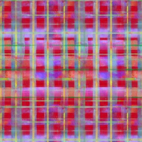 Leela - Red, Plaid - Digitally Printed - by QT Fabrics