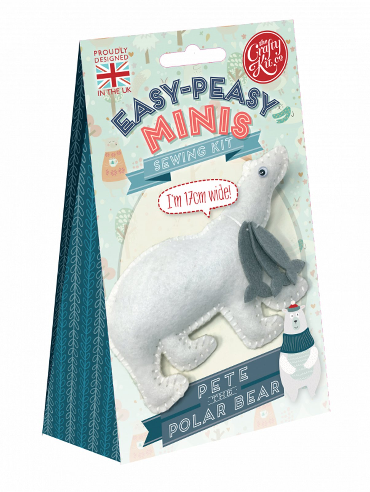 Sewing Kit Minis - Pete The Polar Bear - By The Crafty Kit Co