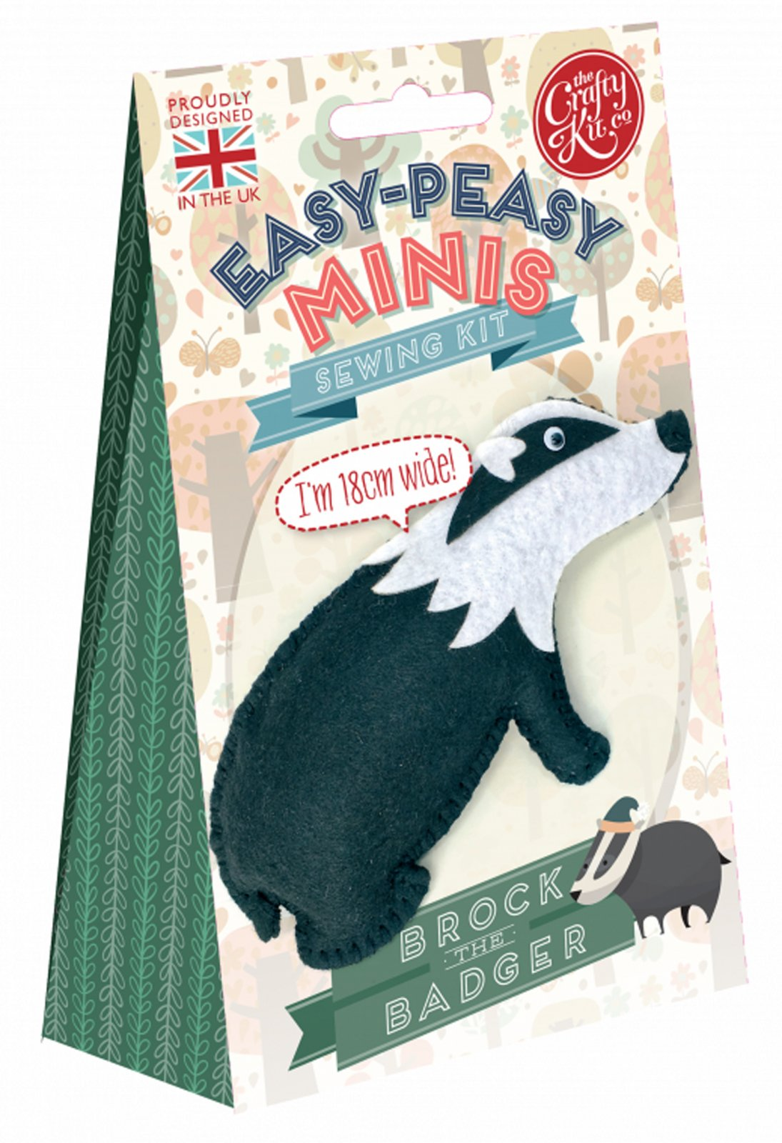 Sewing Kit - Brock The Badger - By The Crafty Kit Co