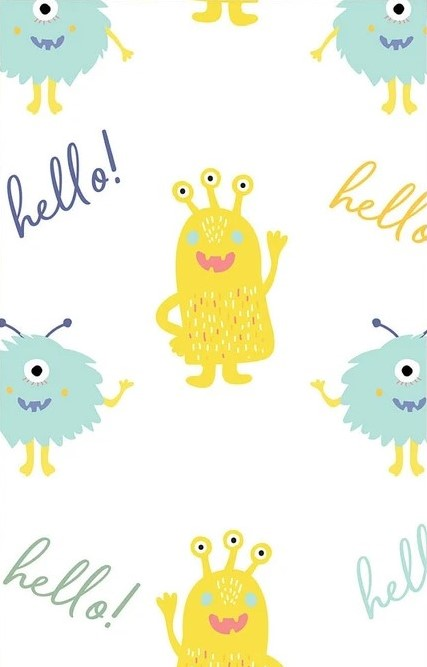Cute Little Monsters - Monster Hello - By The Craft Cotton Company