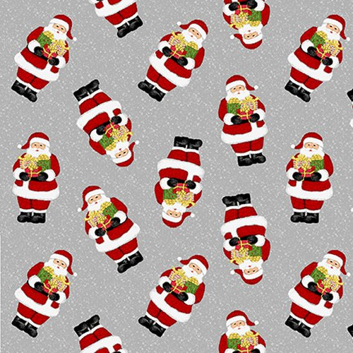 Snow Merry - Tossed Santas - By Sharla Fults For Studio E Fabrics