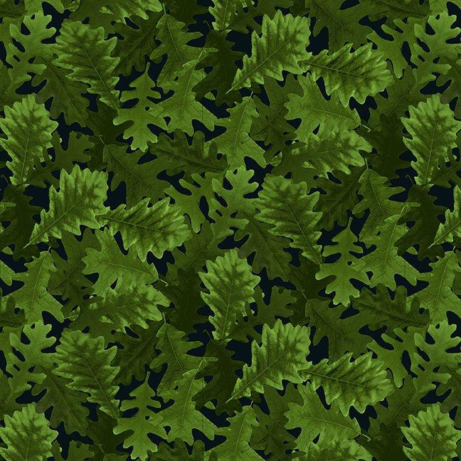 Harvest Whisper - Green Tossed Leaves - By Studio Meraki For Studio E Fabrics