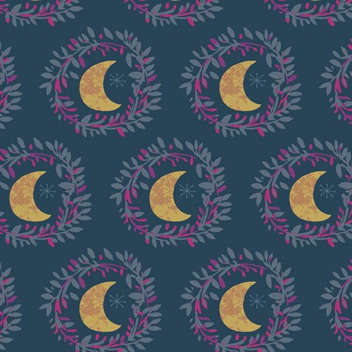Art Gallery Fabrics Mystical Land by Maureen Cracknell - Lunar Illusion Flame