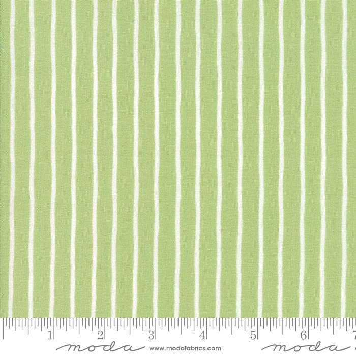 Moda Lollipop Garden by Lella Boutique - Handmade Stripe, Apple / Green