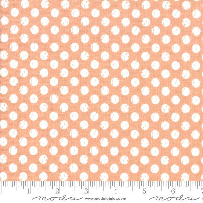 Moda Lollipop Garden by Lella Boutique - Whitewashed Dots Tangerine