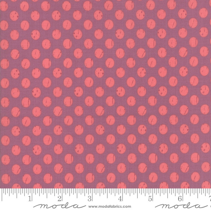 Moda Lollipop Garden by Lella Boutique - Whitewashed Dots Orchid