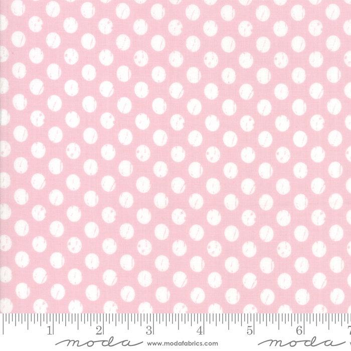 Moda Lollipop Garden by Lella Boutique - Whitewashed Dots Pinkberry