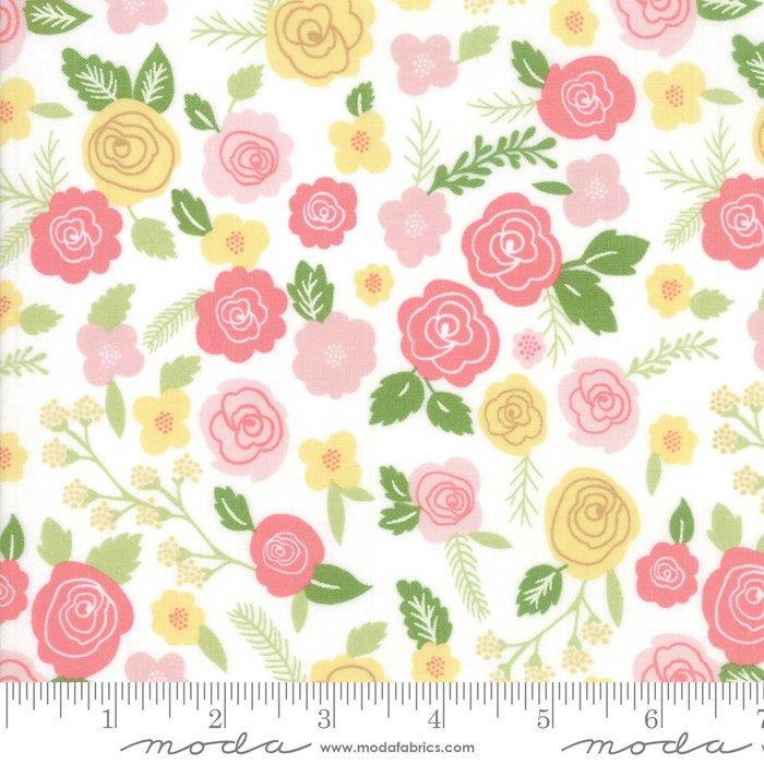 Moda Lollipop Garden by Lella Boutique - Springtime Blooms, Chalk