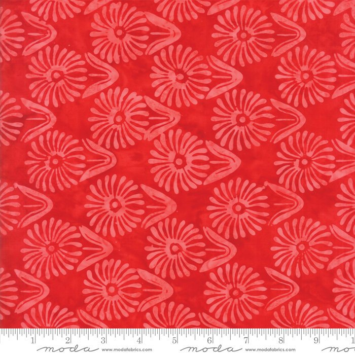 Moda Calypso Batiks by Kate Spain - Flower, Azalea / Red