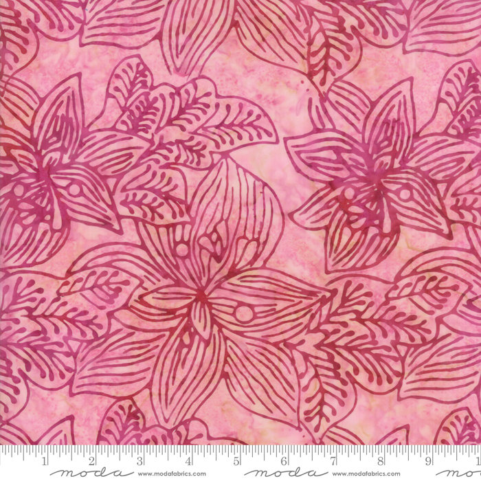 Moda Calypso Batiks by Kate Spain - Tropical Flowers, Paradise / Pink