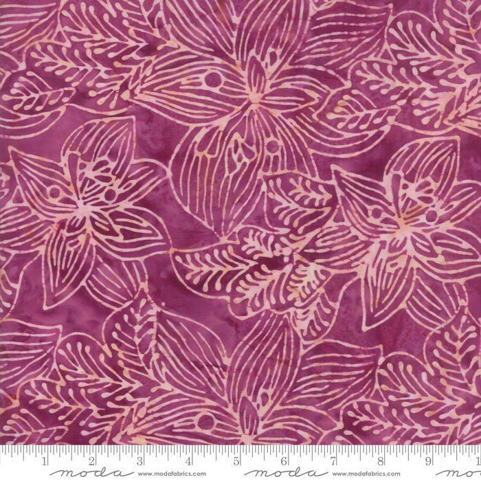 Moda Calypso Batiks by Kate Spain - Tropical Flowers, Orchid