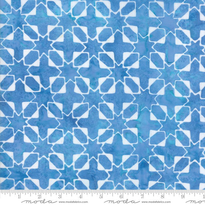 Moda Calypso Batiks by Kate Spain - Quilt Star, Twilight / Blue