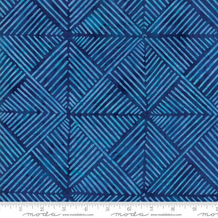 Moda Calypso Batiks by Kate Spain - Modern Squares, Twilight / Blue