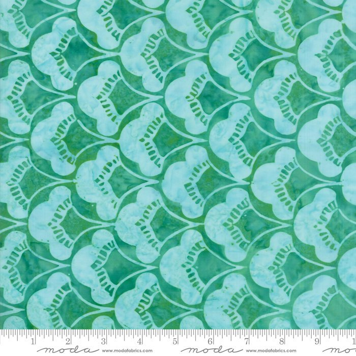 Moda Calypso Batiks by Kate Spain - Leaves, Palm / Green