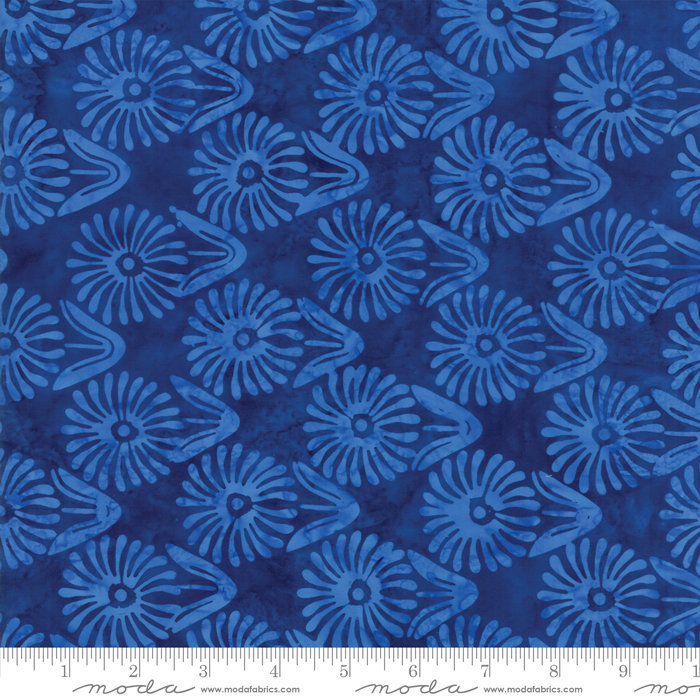 Moda Calypso Batiks by Kate Spain - Flowers, Twilight / Blue