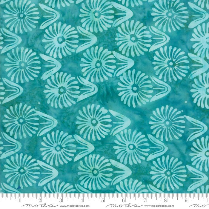 Moda Calypso Batiks with Kate Spain - Flowers, Turquoise