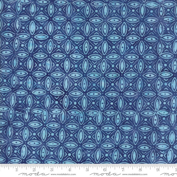 Moda Calypso Batiks by Kate Spain - Ovals, Twilight / Blue