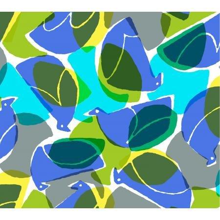 Cotton + Steel Safari by Masaru Suzuki - Tweet, Blue