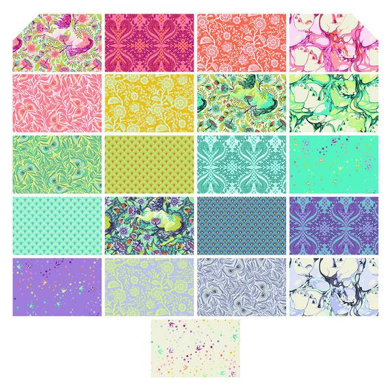 Pinkerville Half-Yard Bundle By Tula Pink for Free Spirit Fabrics - Includes 21 Half-Yard Cuts - Full Collection