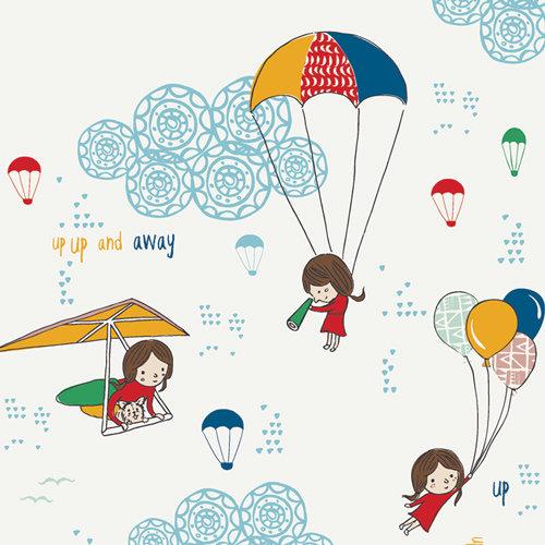 Art Gallery Fabrics SISU Kids Fabric - Hei Sky Cloudine