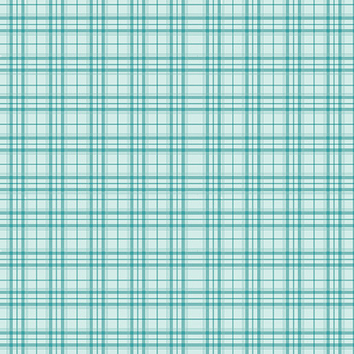 Benartex Home Grown by Nancy Halvorsen - Plaid Aqua