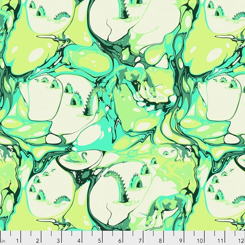 Pinkerville - Blind Faith, Frolic Green - By Tula Pink for Free Spirit Fabrics