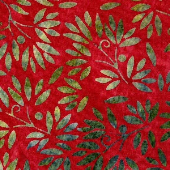 Blank Quilting Amazon Batiks - Leaf Red