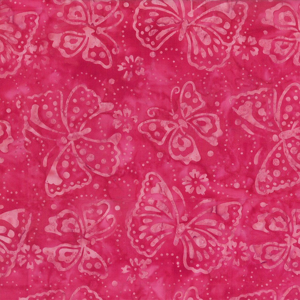 Wilmington Batik - Pink Butterfly