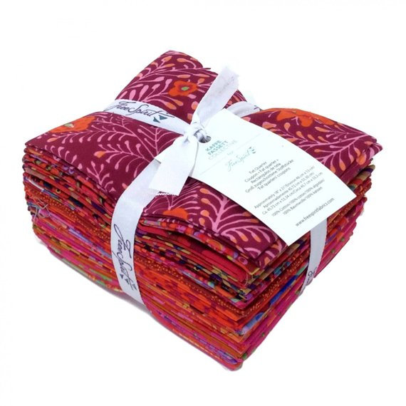 Kaffe Fassett Collective Classics - Lipstick Fat Quarter Bundle, 20 Pieces - by Free Spirit