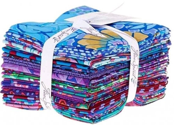 Kaffe Fassett Collective Classics - Peacock Fat Quarter Bundle, 20 Pieces by Free Spirit Fabrics