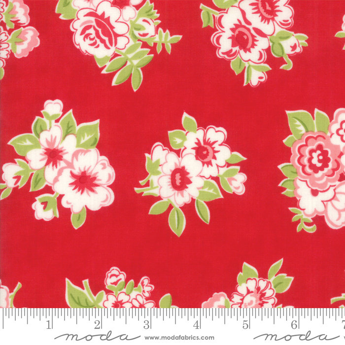 Moda Bonnie and Camille Little Snippets Marmalade Floral Red