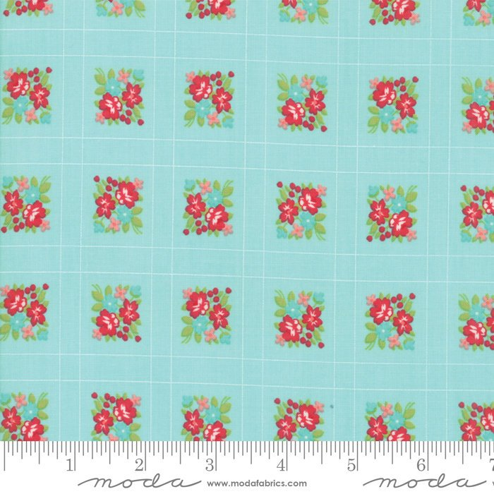 Moda Bonnie and Camille Little Snippets Floral Forget Me Not Aqua