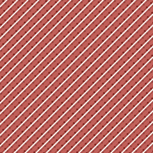 Benartex Home Grown by Nancy Halvorsen - Stripe Red