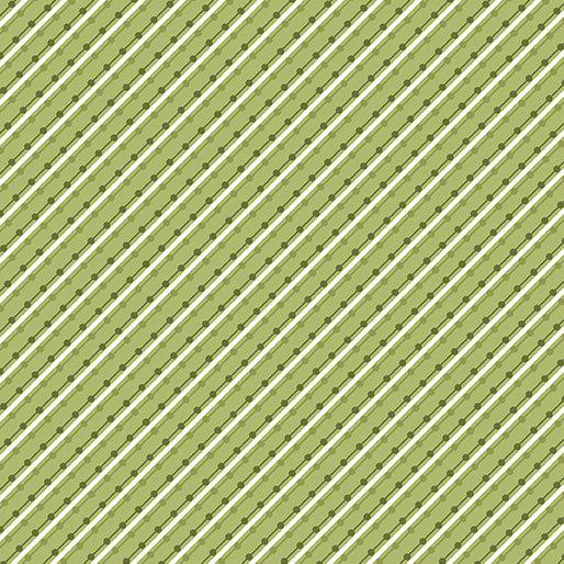 Benartex Home Grown by Nancy Halvorsen - Stripe Green