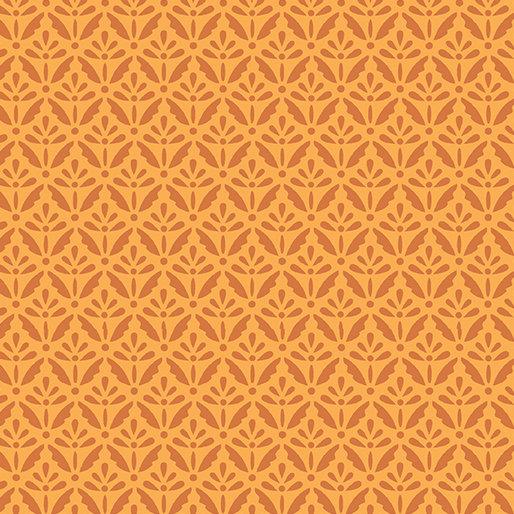 Benartex Home Grown by Nancy Halvorsen - Floret Orange