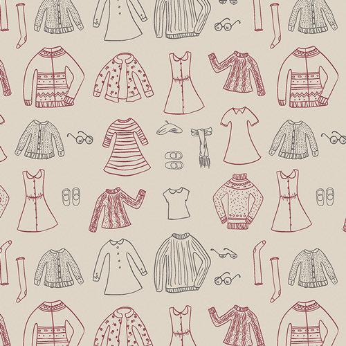 Art Gallery Fabrics Little Clementine - Papercut Wardrobe, Snowday