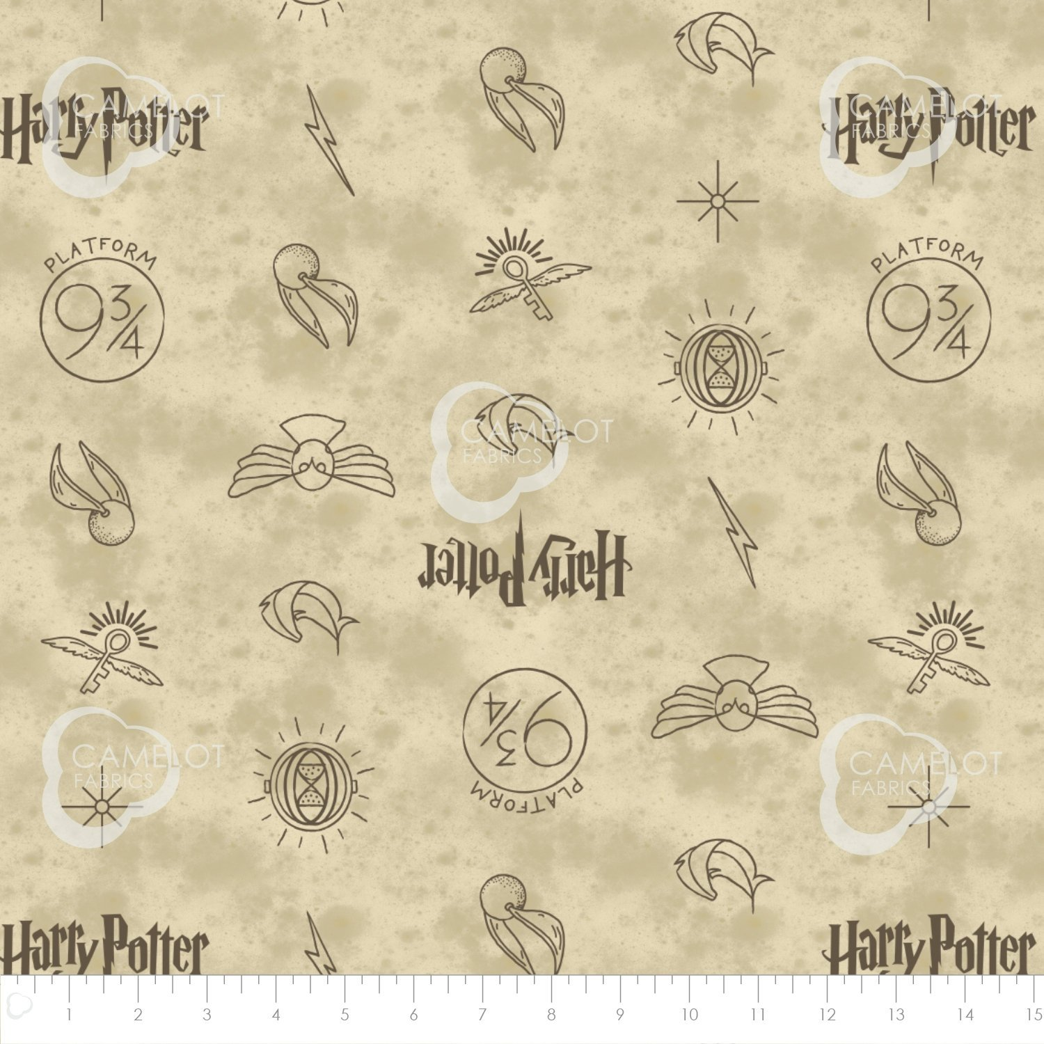 Camelot Studios Harry Potter Wizarding World - Symbols in Dark Cream