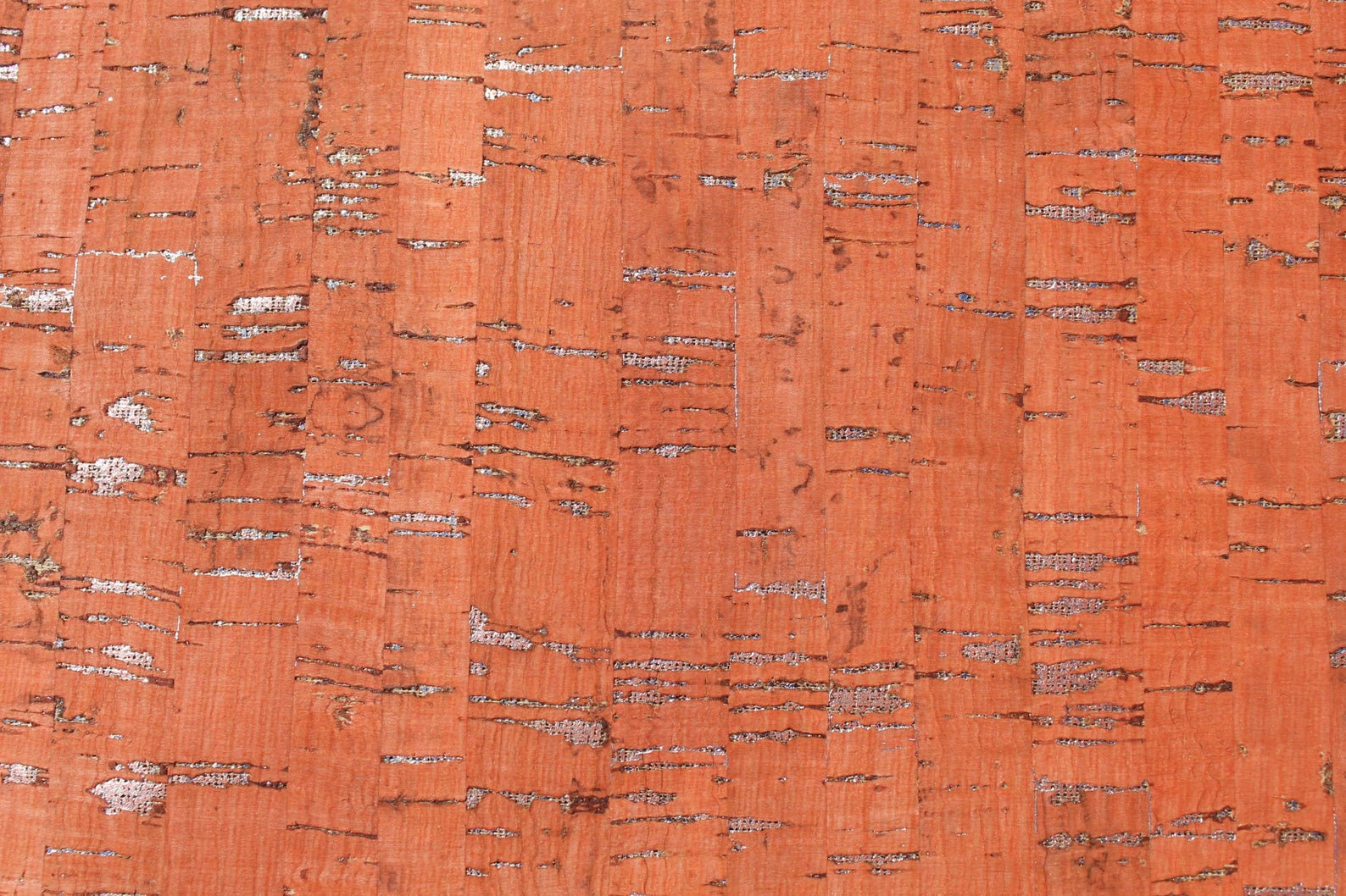 Cork Fabric Red/Silver Metallic for The Gypsy Quilter - Sold by the Half Yard and Cut Continuous - In Stock and Ships Today