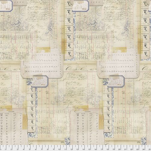 Memoranda II Calendar Multi by Tim Holtz Eclectic Elements for Free Spirit - Sold by the Yard and Cut Continuous - In Stock and Ships Today