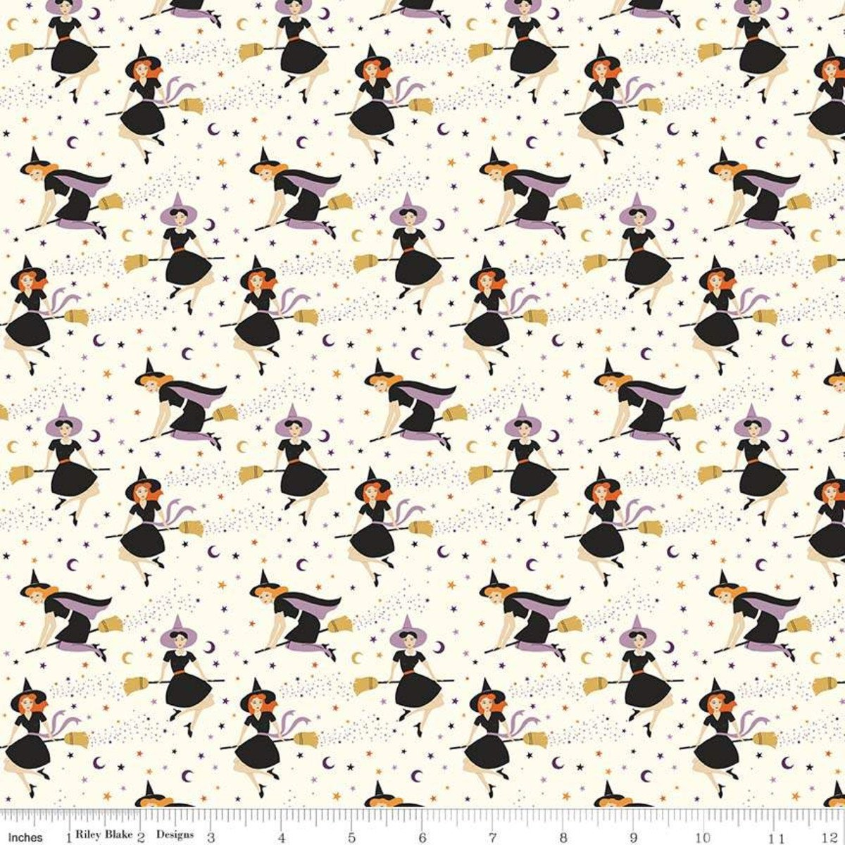 Fab-Boo-Lous for Riley Blake - Witches Cream - Sold by the Yard and Cut Continuous - Ships Today