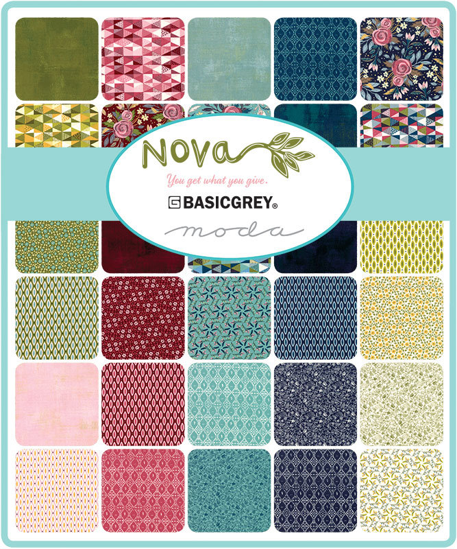 Moda Nova by BasicGrey - Layer Cake Bundle - Includes 42 10 Inch Strips/Full Collection