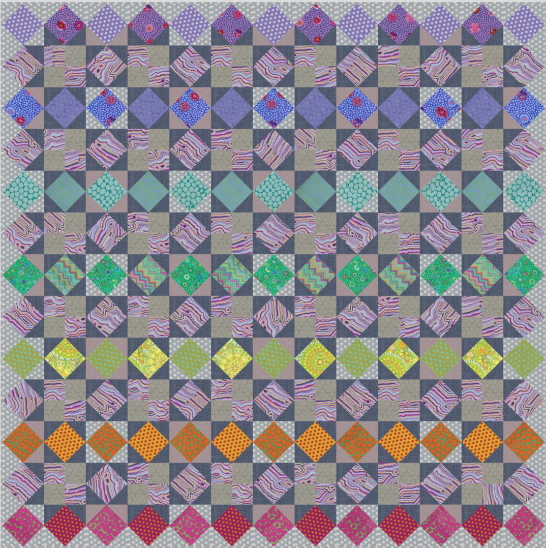 Kaffe Fasset Kaffetastic Summer Quiltalong RAINBOW STAR QUILT Kit - Sunset Colorway - Makes 78 x 78 Quilt - In Stock and Ships Today