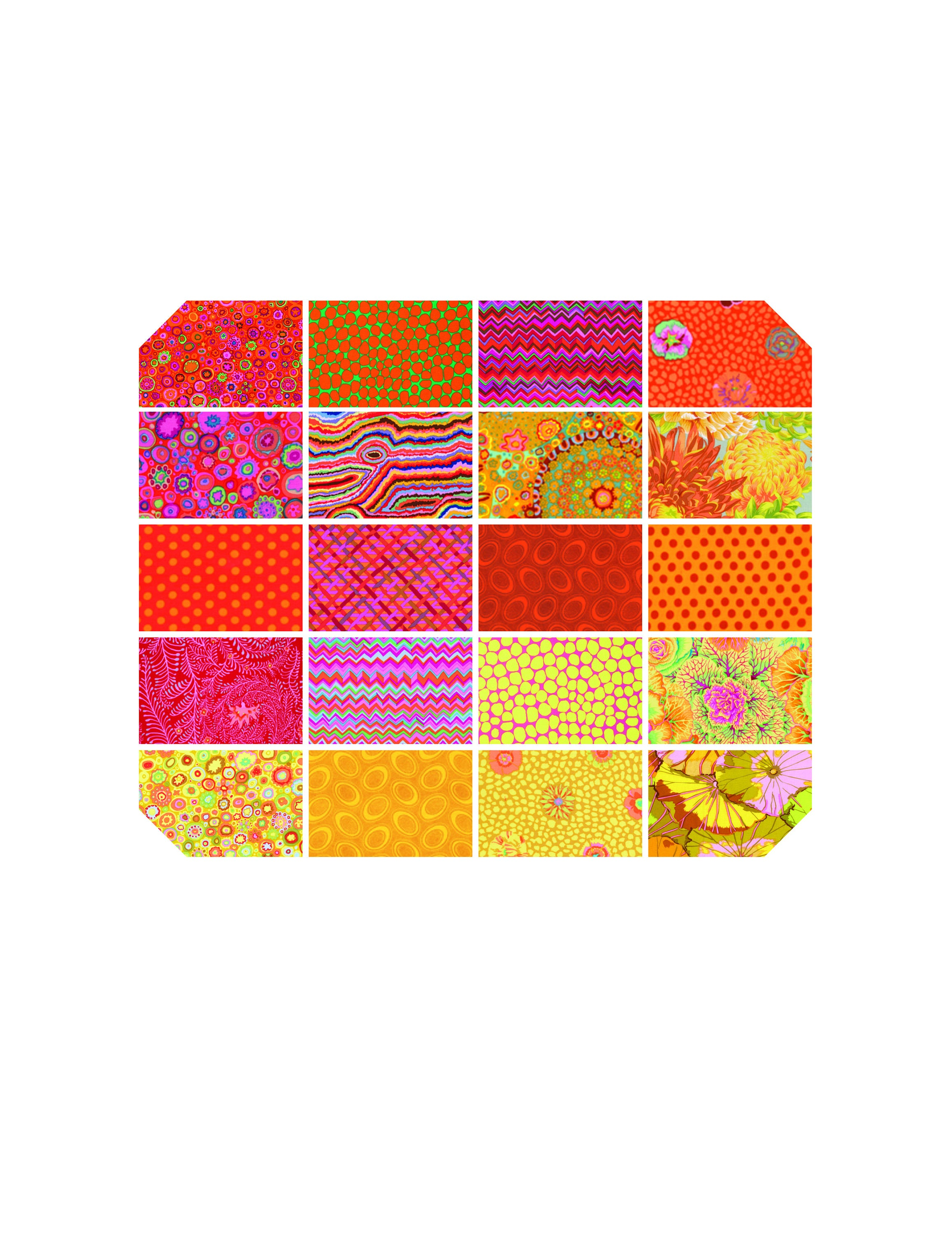 Kaffe Fassett Collective Classics - Citrus 2.5 Strip Roll - 40 Pieces - by Free Spirit Fabrics