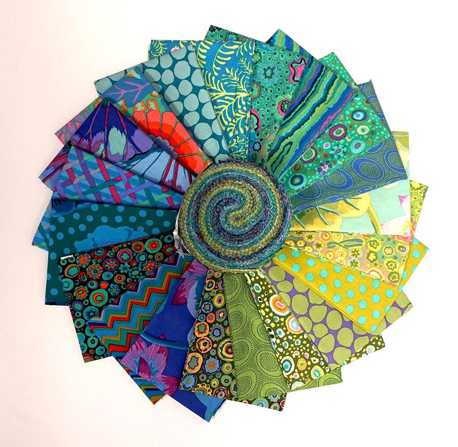Kaffe Fassett Collective Classics - Island 2.5 Strip Roll - 40 Pieces - by Free Spirit Fabrics