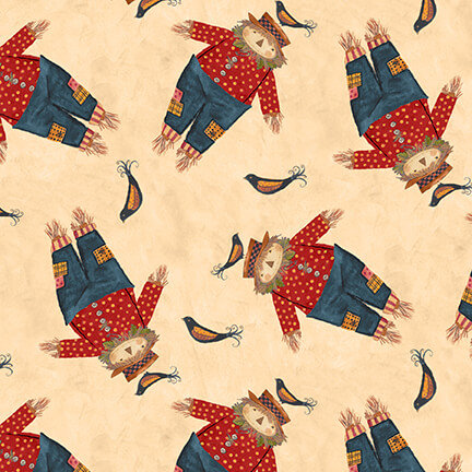 Blank Quilting Give Thanks II Fabric by Art by Bernie - Scarecrows