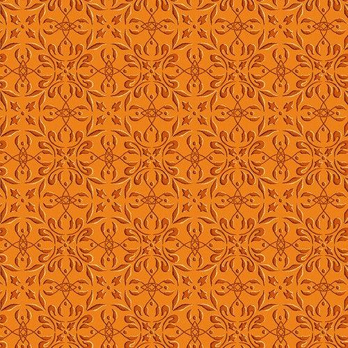 Henry Glass Autumn Time by Color Principles - Tile 2325-35 Pumpkin