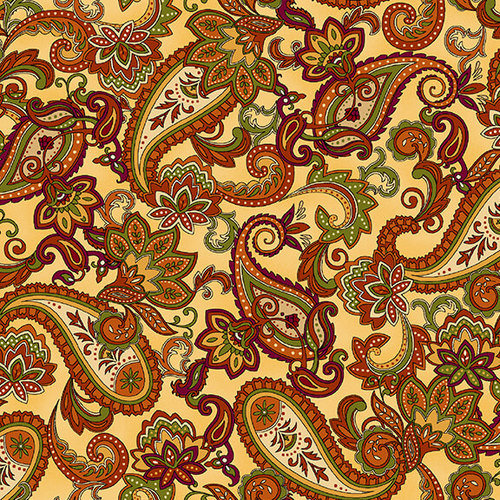 Henry Glass Autumn Time by Color Principles - Paisley 2323-33 Butter
