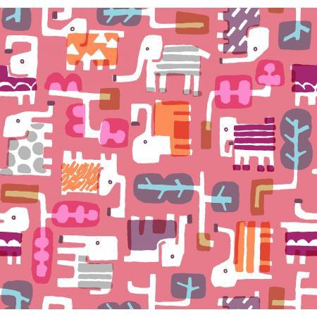 Cotton + Steel Safari by Masaru Suzuki  - Elephant Walk, Coral