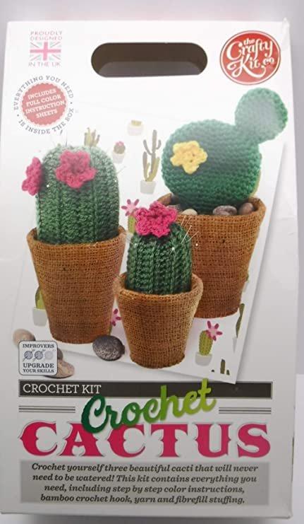 Crochet Kit - Crochet Cactus - By The Crafty Kit Co