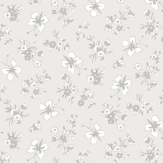 Willow - Butterflies, Grey - by Andover Fabrics